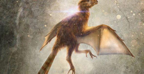 Paleontólogos hallan el fósil de un dinosario que tiene alas de murciélago