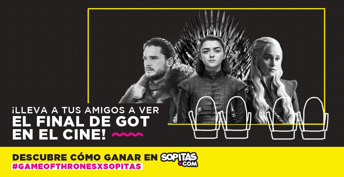 ¡Te llevamos al cine a ver el épico final de 'Game of Thrones'!