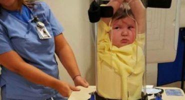 Estate quieto nivel: Esto se utiliza para inmovilizar niños durante los rayos X