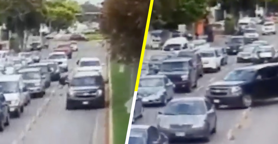 Por evitar tráfico, escolta de candidato de Morena invade carril exclusivo y atropella a una persona