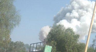 Explota un inmueble en Tultepec debido a fuegos artificiales