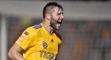 El gol con el que Gignac empató la marca de Tomás Boy como máximo anotador de Tigres