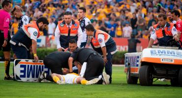 Drama en el primer gol de Tigres: Guido Pizarro quedó casi inconsciente