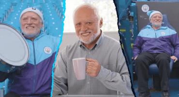 Harold, el hombre de los memes que es aficionado al Manchester City