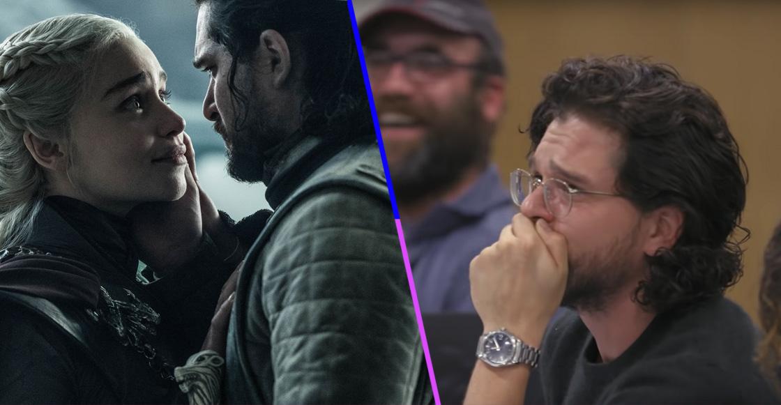 Así lloró Kit Harington cuando se enteró que Daenerys moriría en sus brazos