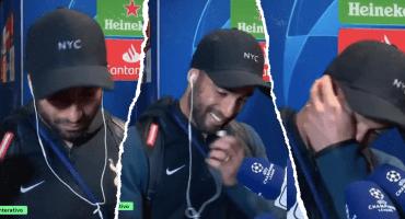 El llanto de Lucas Moura al escuchar la narración de su gol en portugués