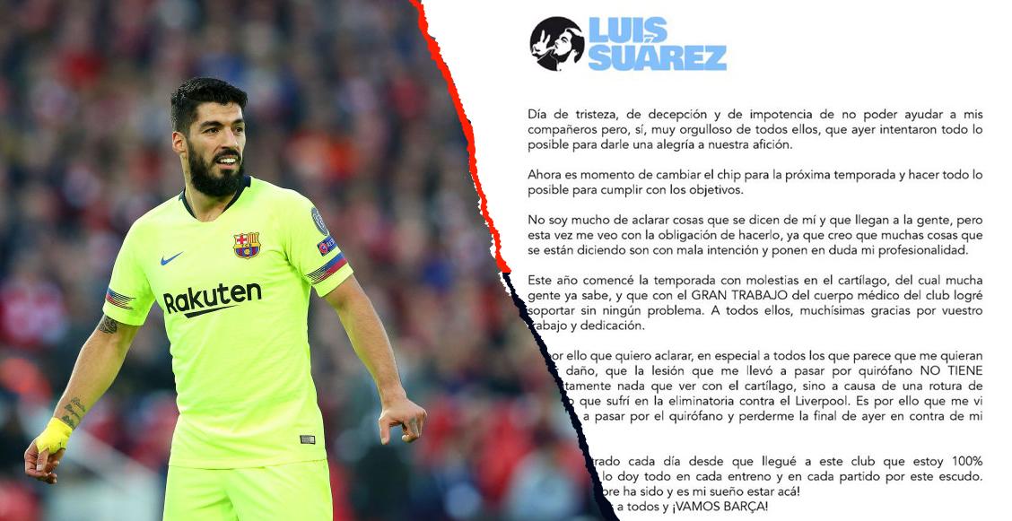 Luis Suárez se defendió contra las críticas por no estar en la Copa del Rey