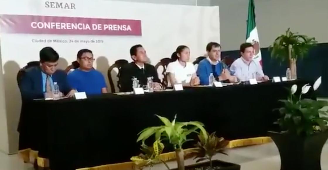 Lupita González cn conferencia de prensa