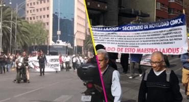 En CDMX, transportistas marchan por un aumento a las tarifas de microbuses y camiones