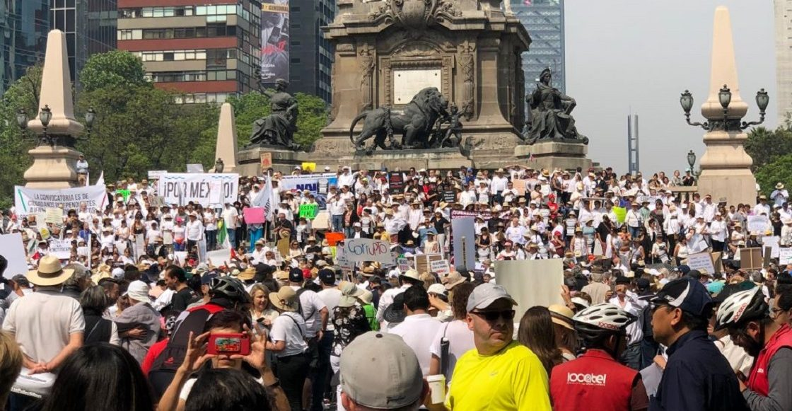 Marcha del silencio vs AMLO