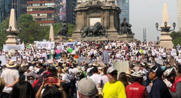 Así estuvo la marcha del silencio vs AMLO en el Paseo de la Reforma