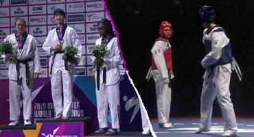 ¡Mexicana histórica! María Espinoza logra su tercera medalla en un Mundial de Taekwondo
