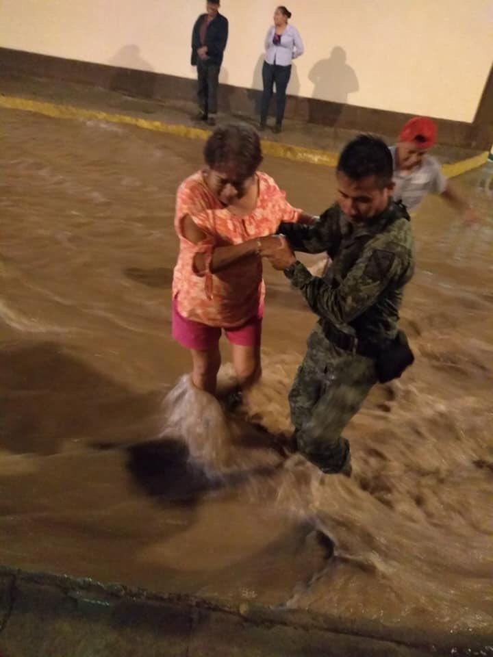 inundación en Matehuala, SLP
