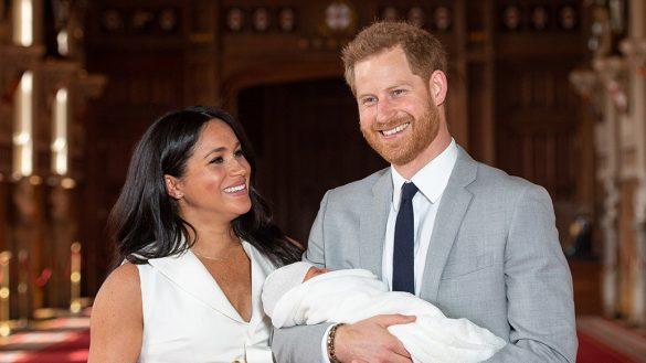 Salen las primeras imágenes del hijo del príncipe Harry y Meghan Markle