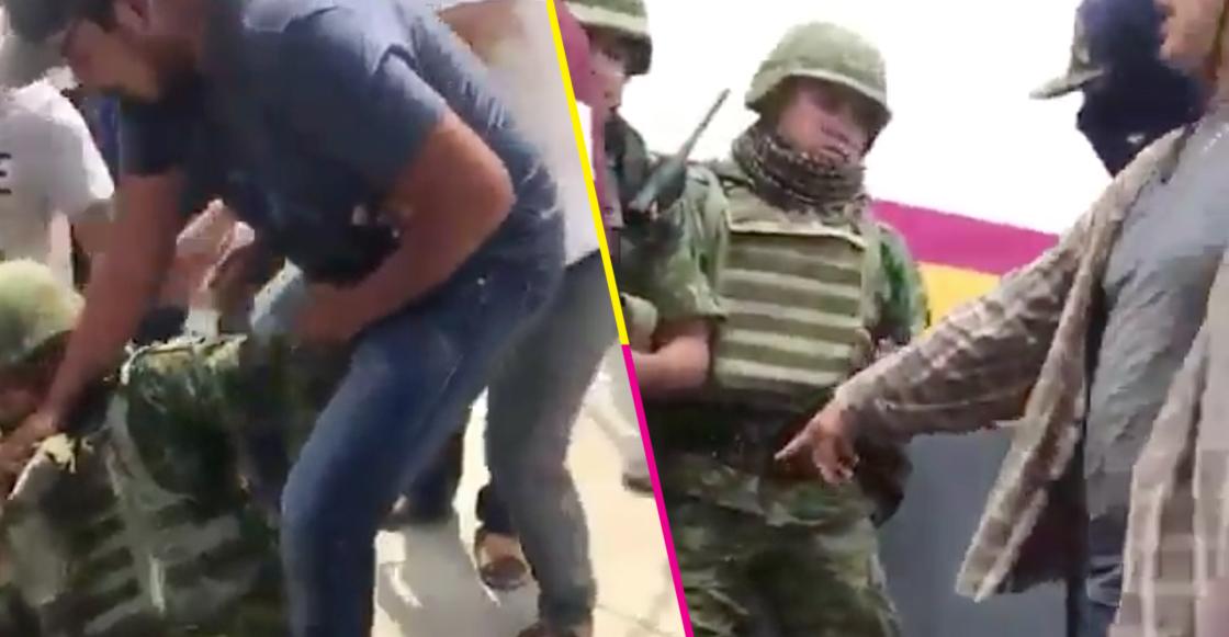 Tras enfrentamiento, desarman y retienen a militares en La Huacana, Michoacán
