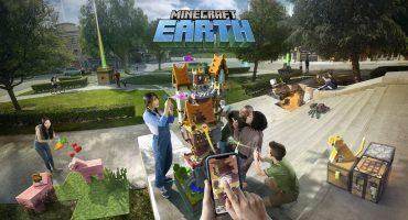 El mundo se vuelve pixelado en este curioso tráiler de 'Minecraft Earth'