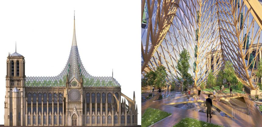 Las propuestas más extravagantes para reconstruir Notre Dame