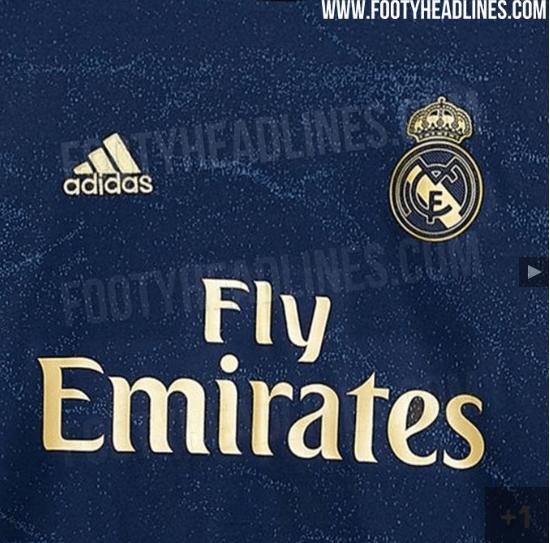 Soberbia: Se filtró la nueva camiseta del Real Madrid color marino y oro
