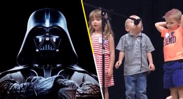 ¡A Darth Vader le gusta esto! Este niño cambió su canción infantil para entonar