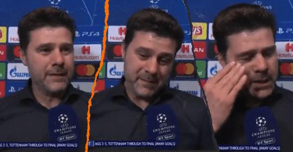 Pochettino rompe en llanto en la entrevista post partido tras el milagro del Tottenham