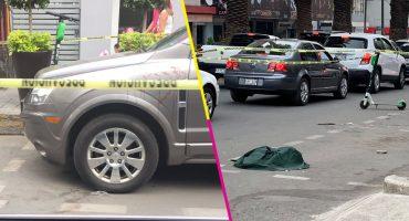 Creatividad nivel: Policía acordona con scooters la escena de un crimen en Polanco