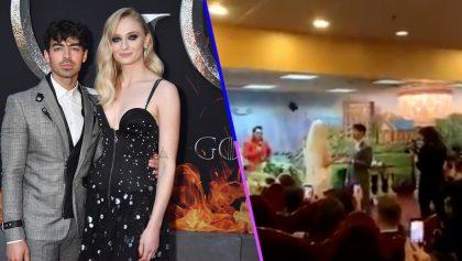 Elvis Presley casó a Sansa Stark con uno de los Jonas Brothers en Las Vegas 😍