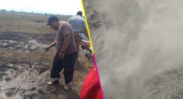 Cenapred detecta un incendio subterráneo en predios de Chalco, Edomex