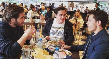 Típico: Cuando Tom Holland y Jake Gyllenhaal se van a echar unos taquitos en la CDMX