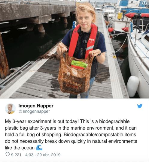 Esto es lo que pasa con las bolsas de plástico