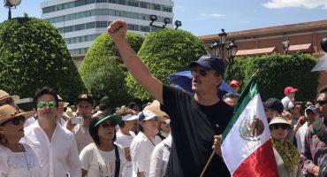 Fox encabeza marcha contra AMLO en Guanajuato; Calderón aprovecha e invita a registrarse en México Libre