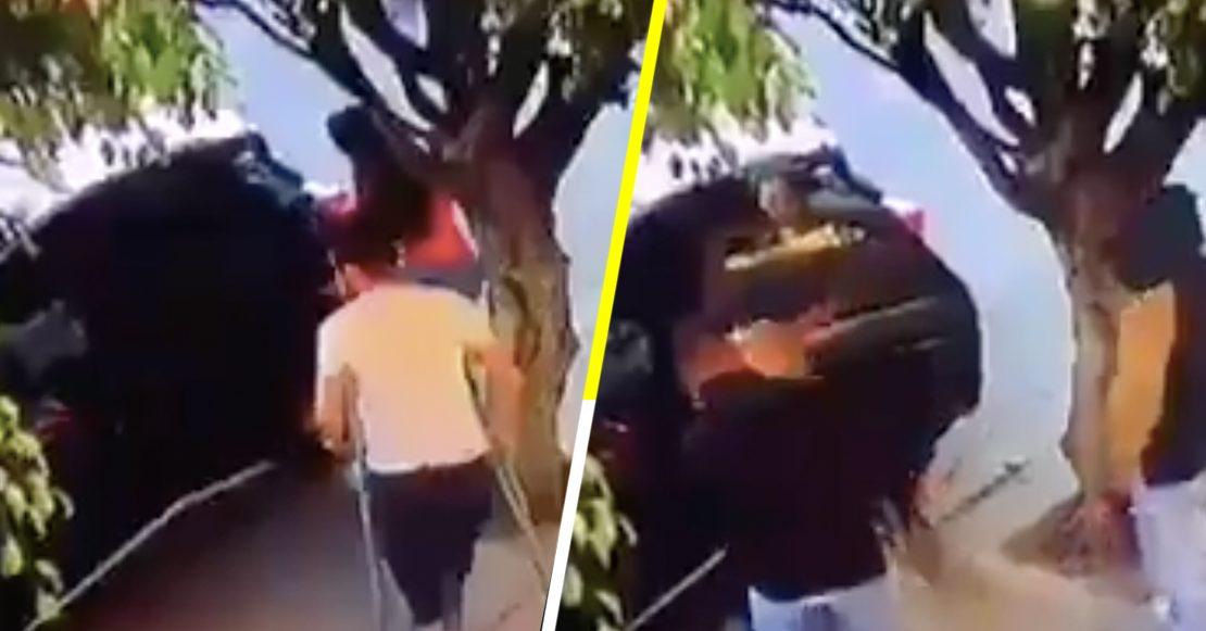 ¡Qué poca tienen! Asaltan y roban camioneta a hombre en muletas