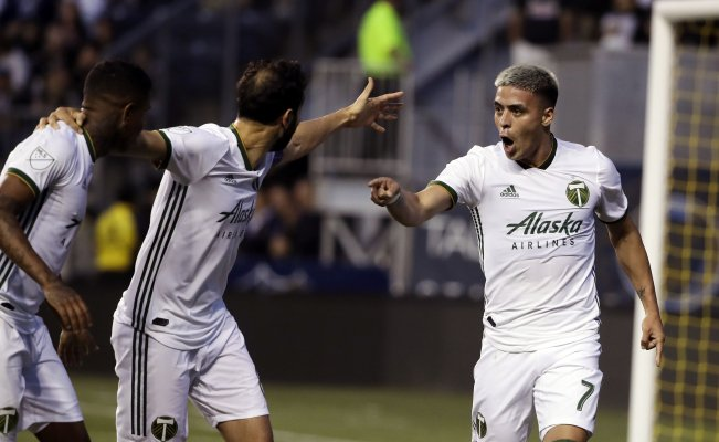 Brian Fernández le dedicó su primer gol al Necaxa jugando con Portland Timbers