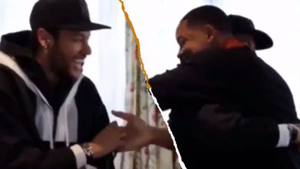 La épica reacción de Neymar al conocer a Will Smith en París