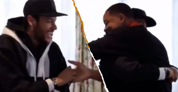 La épica reacción de Neymar al conocer a Will Smith en París