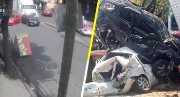 Captan en video el momento en el que tráiler chocó a varios vehículos en Santa Fe