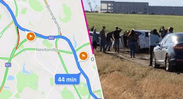 En la nota idiota del día: Varios automovilistas intentaron tomar un atajo y terminaron atascados gracias al GPS
