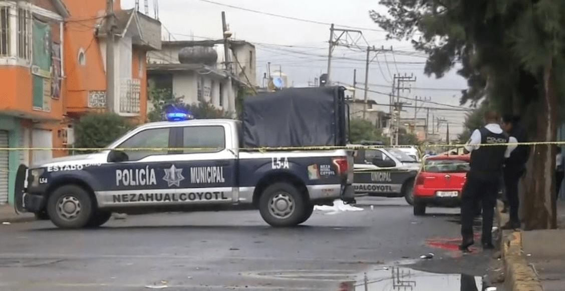 Tras balacera en Nezahualcóyotl, un hombre y un menor de edad pierden la vida