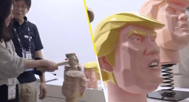 ¿Trump y un martillo? Este es el remedio para el estrés en Shanghái