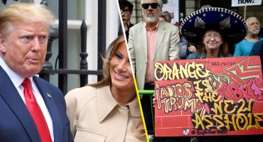 Con el 'bebé Trump', ingleses protestan contra la visita del mandatario