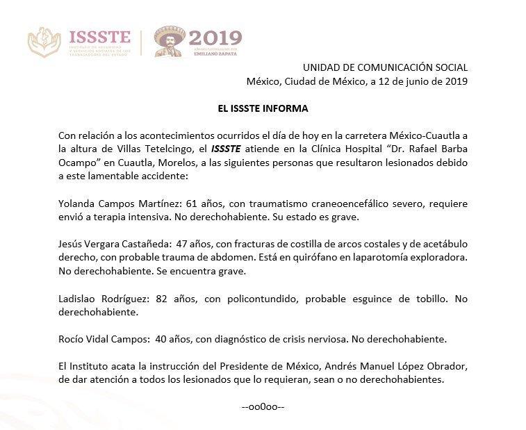 ISSSTE-accidente-México-Cuautla