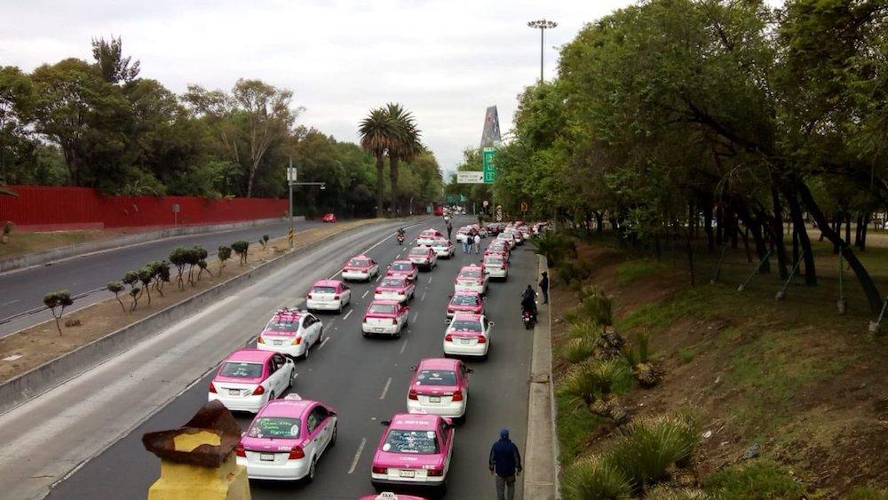 Manifestación-taxistas-CDMX-paro