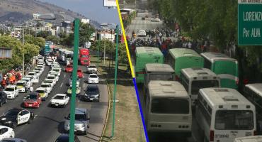 ¡También microbuses! Transportistas se unen a la manifestación de taxistas en CDMX y Edomex