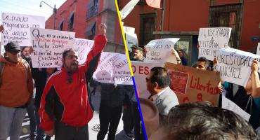 Activistas protestan por la detención de Cristóbal Sánchez e Irineo Mujica