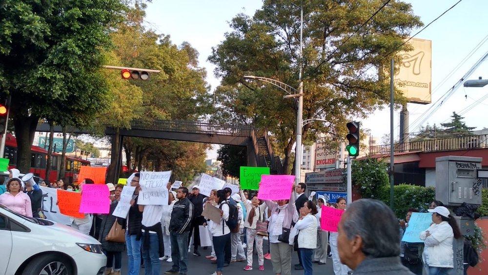 Protesta-sacerdote-detención-Tlalpan
