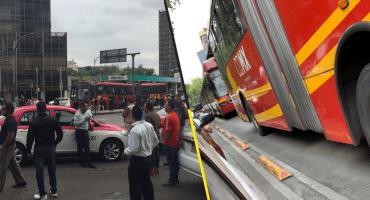Ante bloqueos de taxistas, se reportaron cierres en estaciones del Metrobús