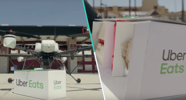 ¡Qué moderrrnos! Uber está planeando entregar comida con... ¿drones?