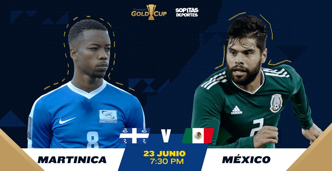 ¿Cómo, cuándo y dónde ver en vivo el Martinica vs México?