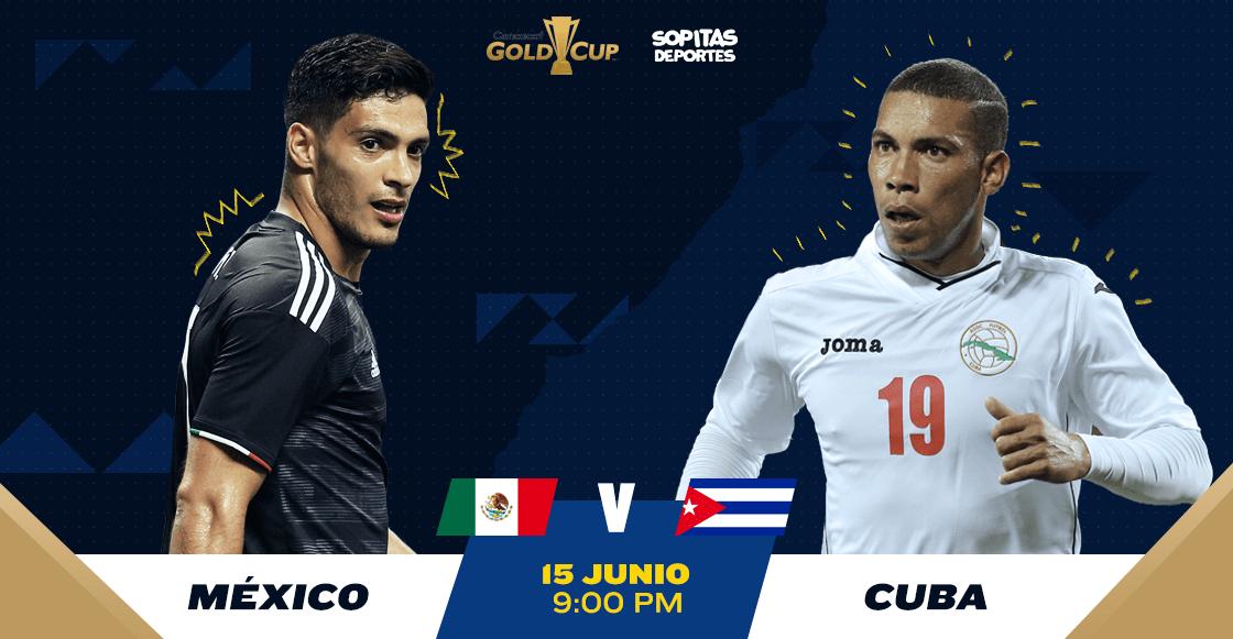 ¿Cuándo, cómo y dónde ver EN VIVO el México vs Cuba de la Copa Oro?