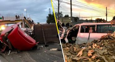 Accidente en la carretera Lechería-Texcoco dejó al menos 5 heridos; una persona falleció