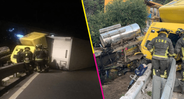 Chofer pierde la vida tras volcadura de un tráiler en la carretera México-Toluca